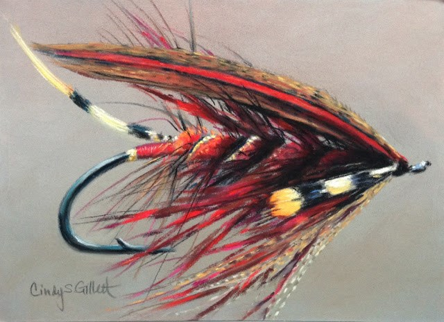 """""""Fly 14 - Red Special"""" original fine art by Cindy Gillett"""