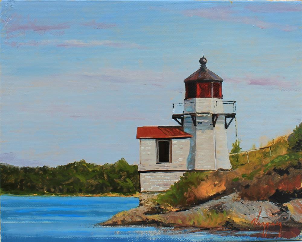 """Little lighthouse"" original fine art by Marco Vazquez"
