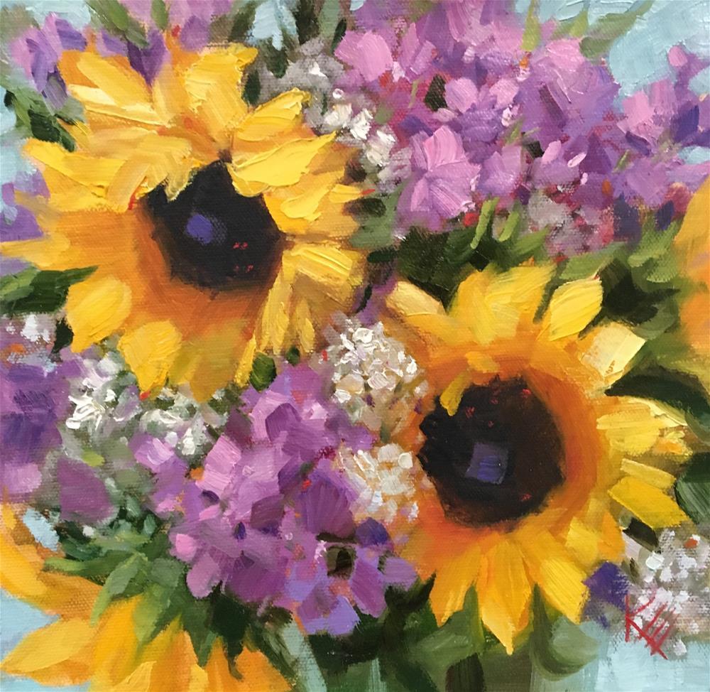 """Sunflower Splash"" original fine art by Krista Eaton"