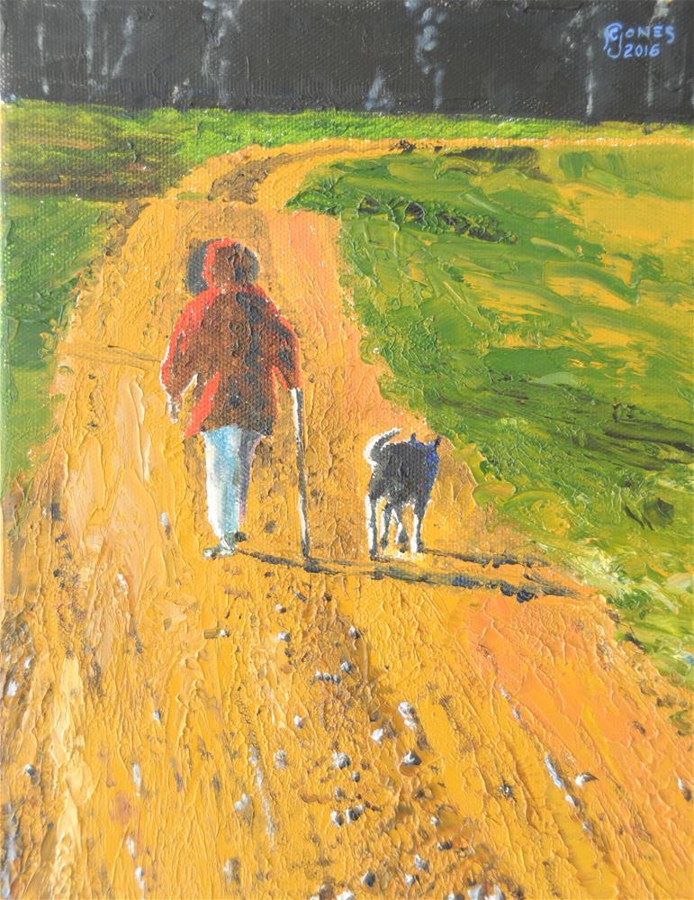 """Gravel Road"" original fine art by Fred Jones"