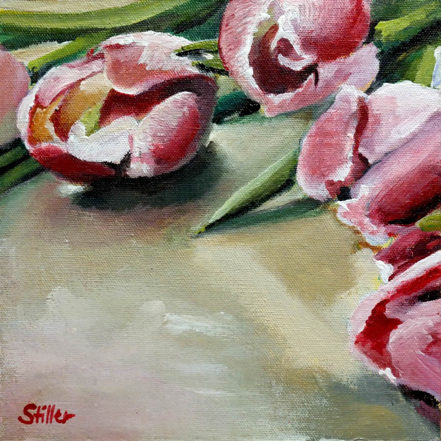 """2353 Lying Tulips"" original fine art by Dietmar Stiller"