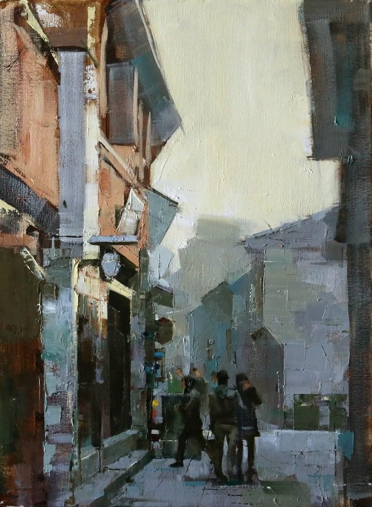 """""""Wuzhen Street 2"""" original fine art by Qiang Huang"""