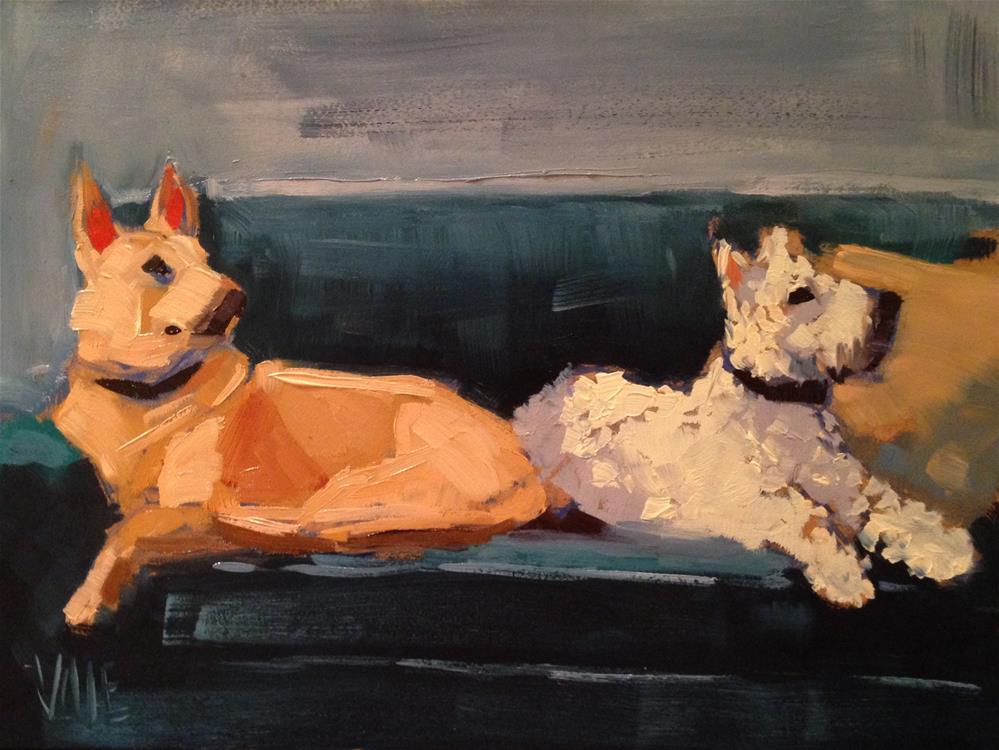 """#141 Lily & Gus"" original fine art by Patty Voje"