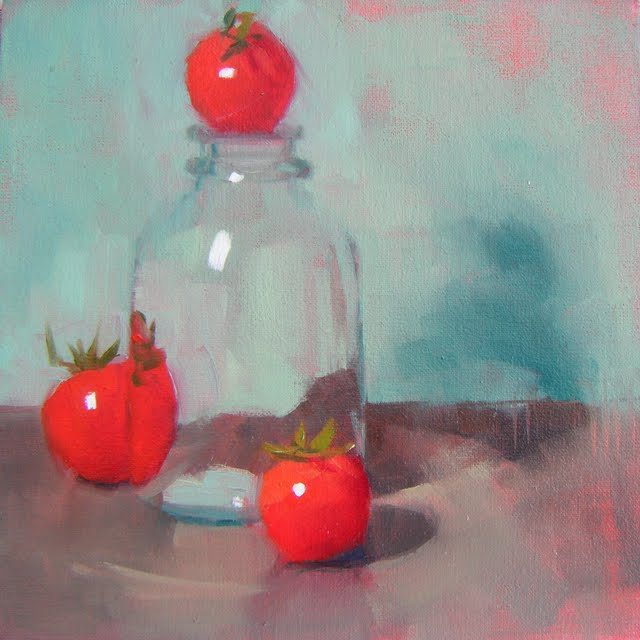 """TOP TOMATO"" original fine art by Helen Cooper"