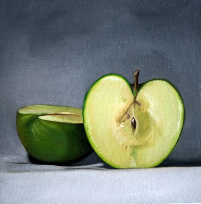 """Sliced Apple"" original fine art by Lauren Pretorius"