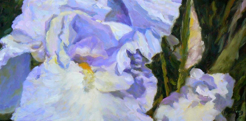 """Blue Iris"" original fine art by Cynthia Mahlberg"
