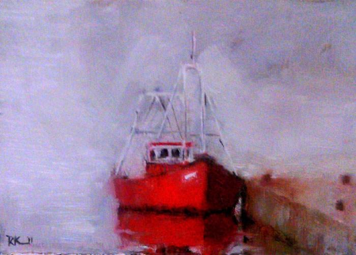 """Fog on the Water"" original fine art by Bob Kimball"