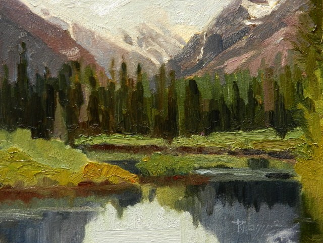 """Gold Creek Snoqualmie Pass, plein air ,oil landscape painting by Robin Weiss"" original fine art by Robin Weiss"