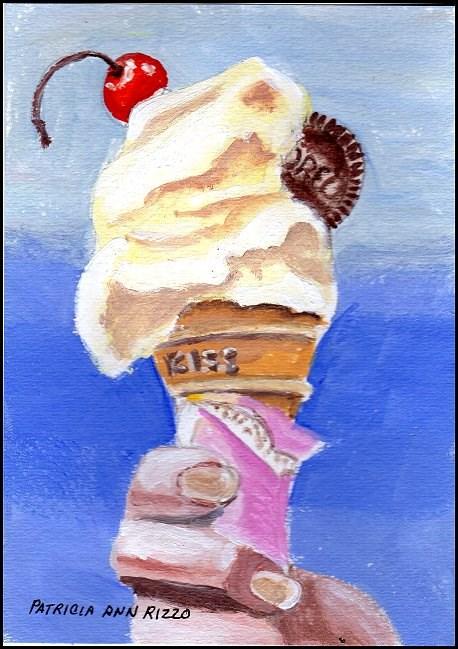 """""""Ice Cream Cone!"""" original fine art by Patricia Ann Rizzo"""