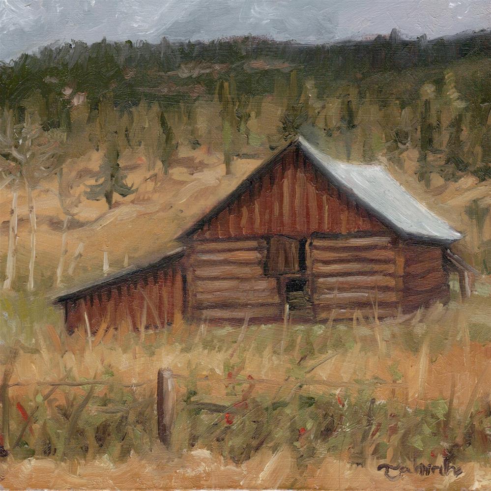 """""""Chilcotin Barn"""" original fine art by Tahirih Goffic"""