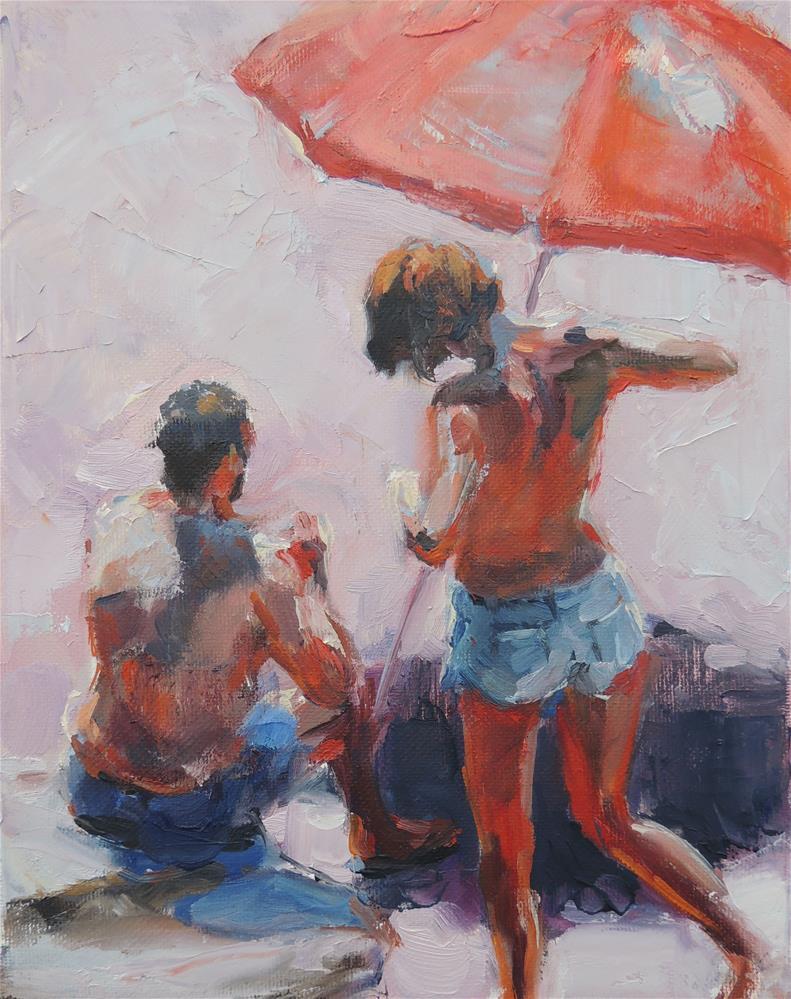 """Sunbathers"" original fine art by Wendy Brayton"