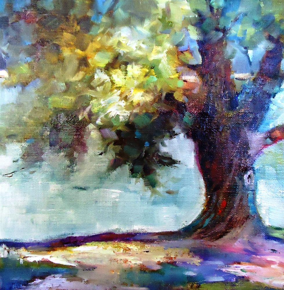 """Wash Park Willow"" original fine art by Scarlet Owl Studio"