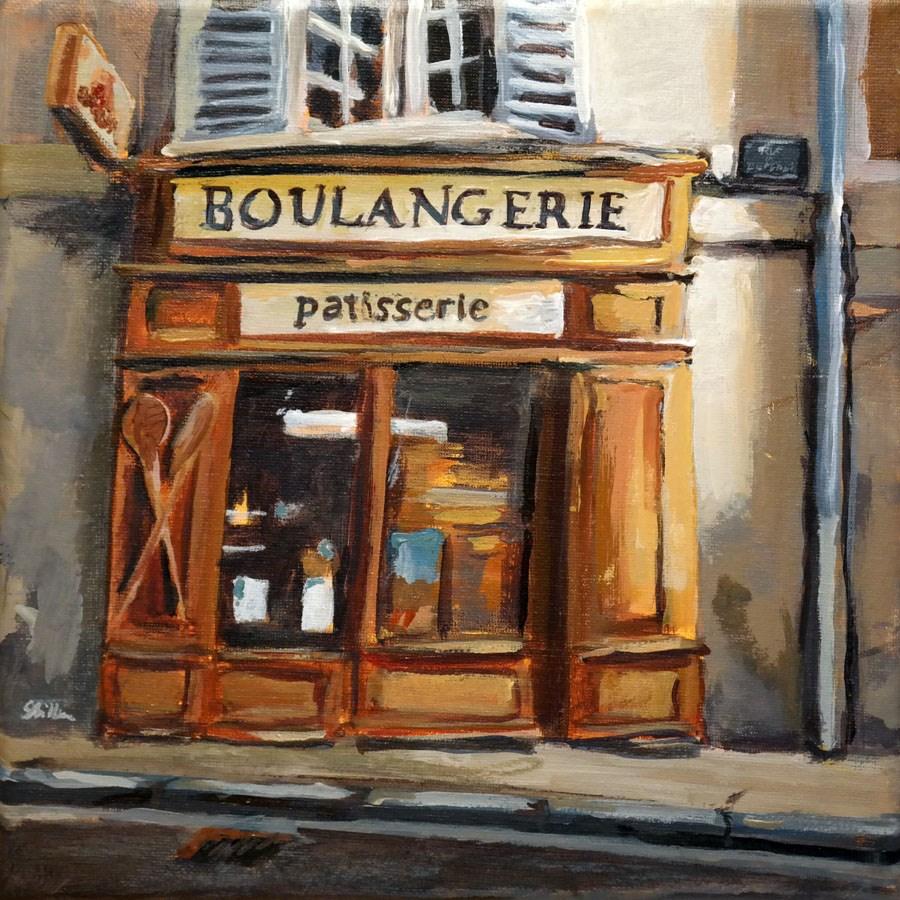 """""""1175 Boulangerie"""" original fine art by Dietmar Stiller"""