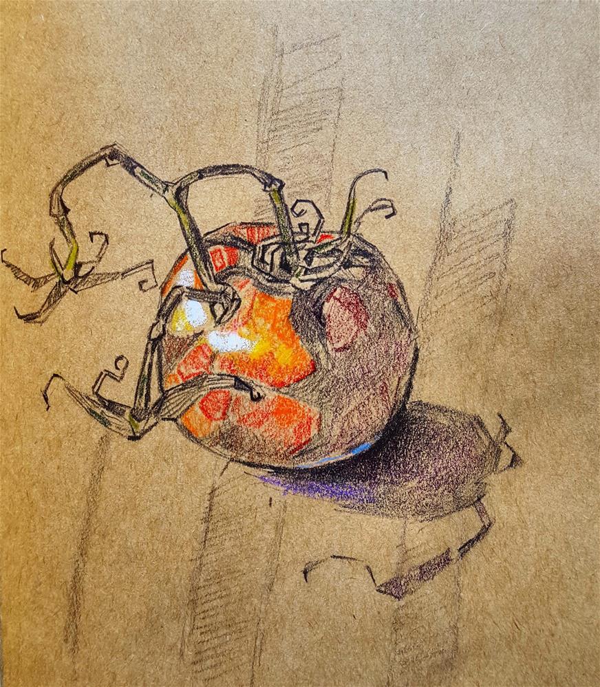 """Tomtom"" original fine art by Bhavna Misra"