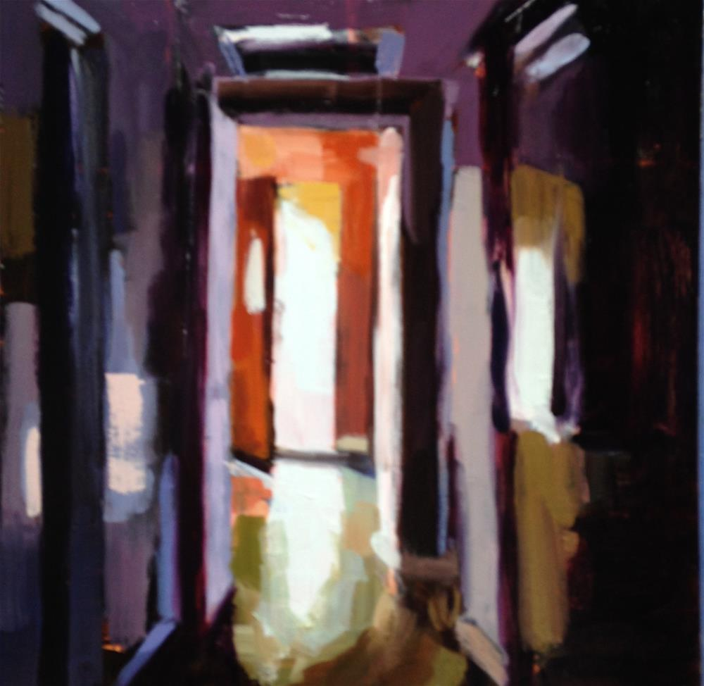 """Down the Hallway, Out the Front Door"" original fine art by Pamela Hoffmeister"