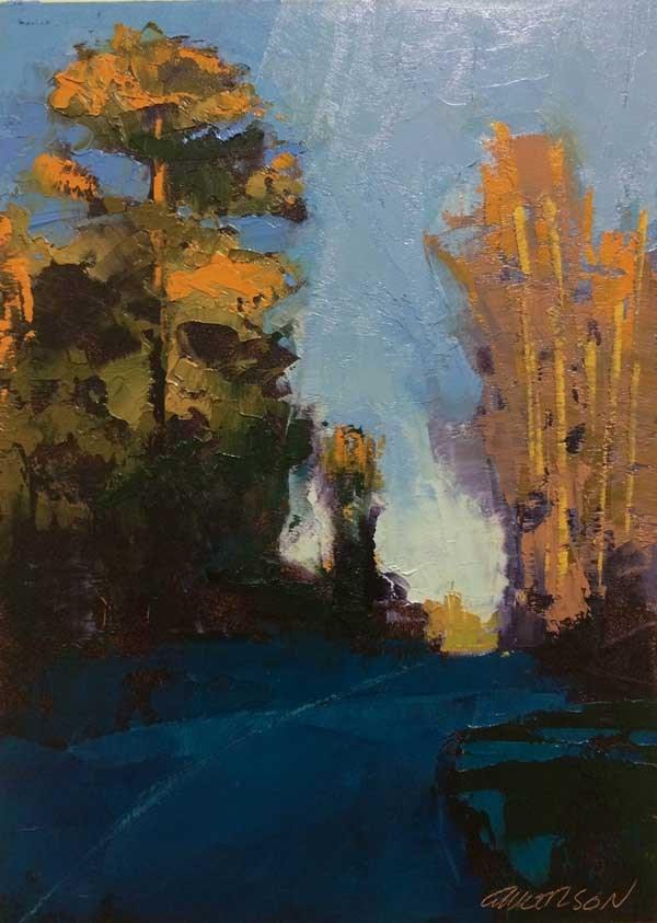 """Elm Savannah Spring"" original fine art by Mary Gilkerson"