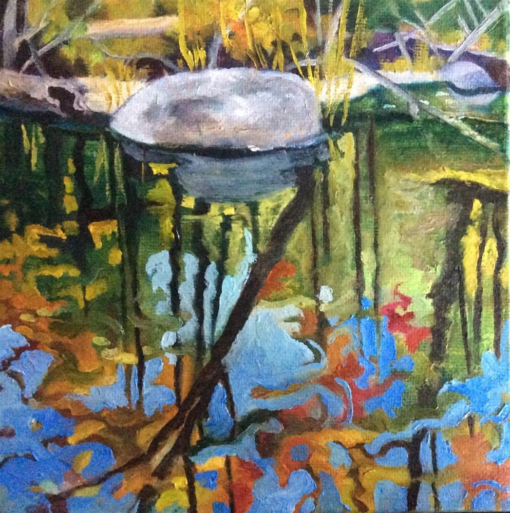 """""""Forest Mirror"""" original fine art by Laurie Sucharda"""