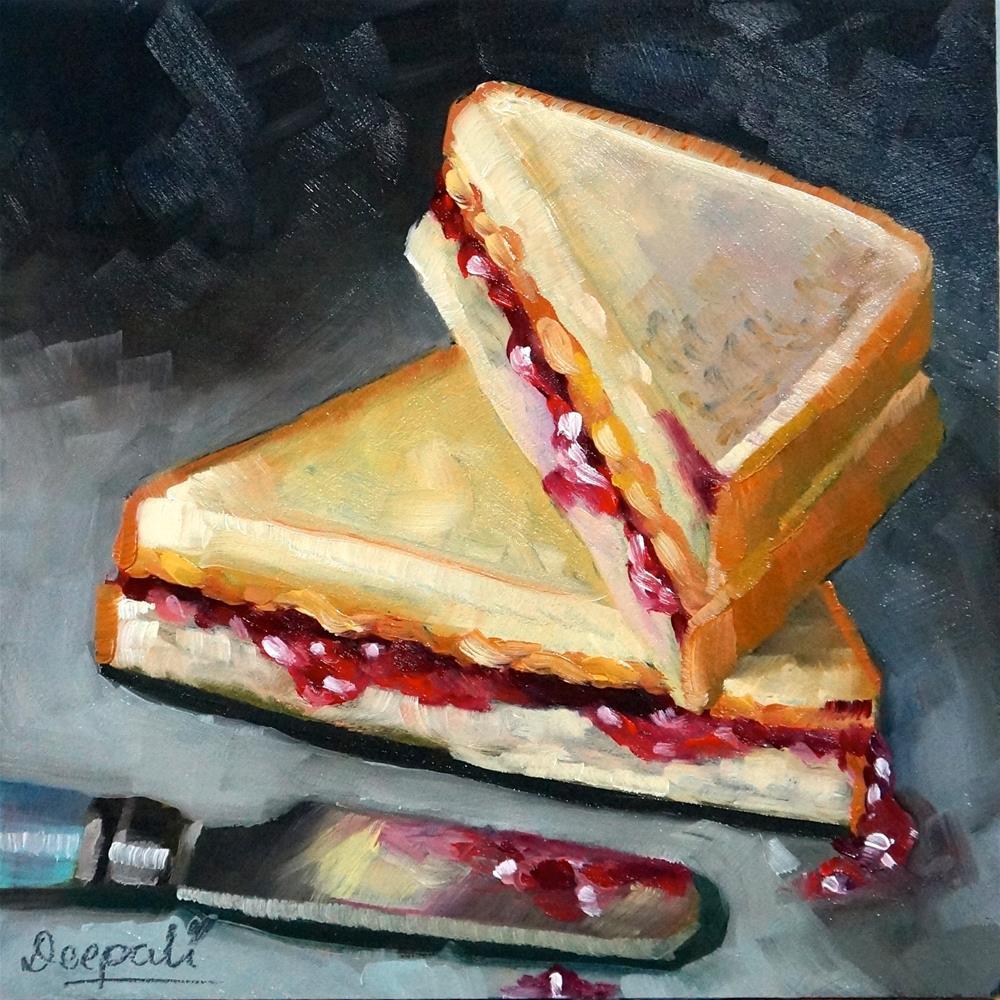 """peanut butter and jelly"" original fine art by Dipali Rabadiya"