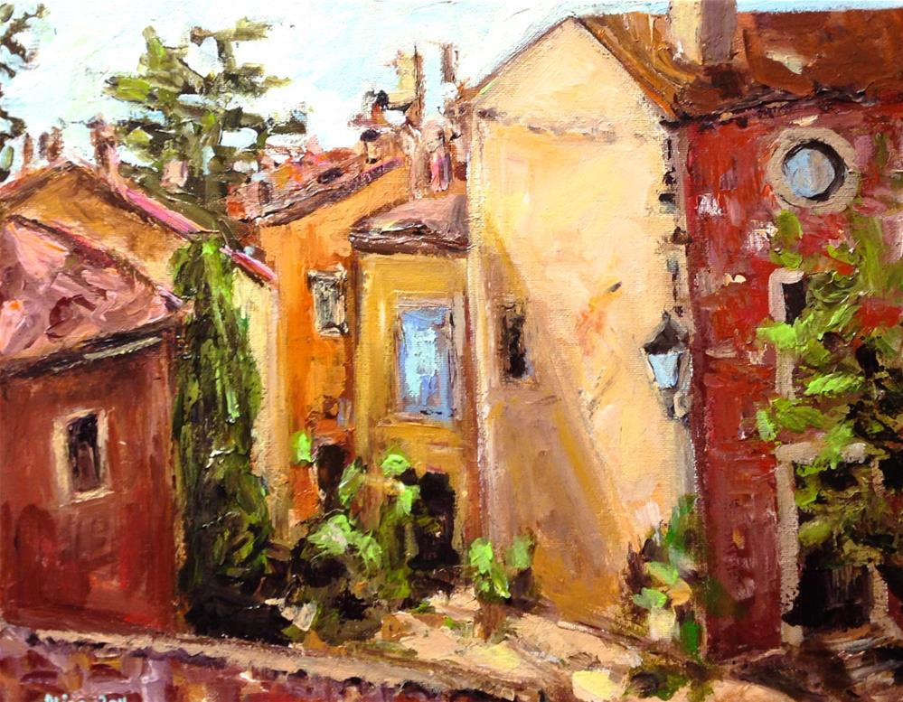 """Roussillon Street"" original fine art by Alina Vidulescu"