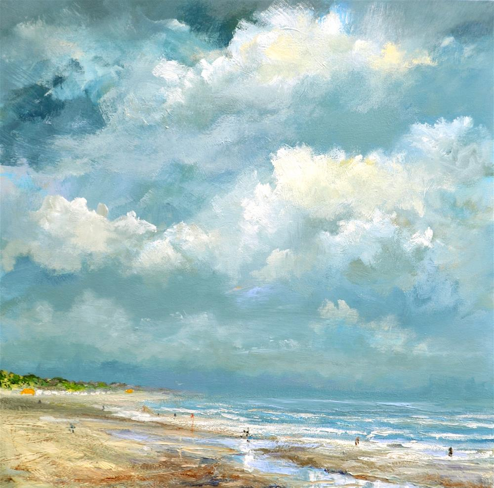 """Beach Banjaard July 2016"" original fine art by Wim Van De Wege"