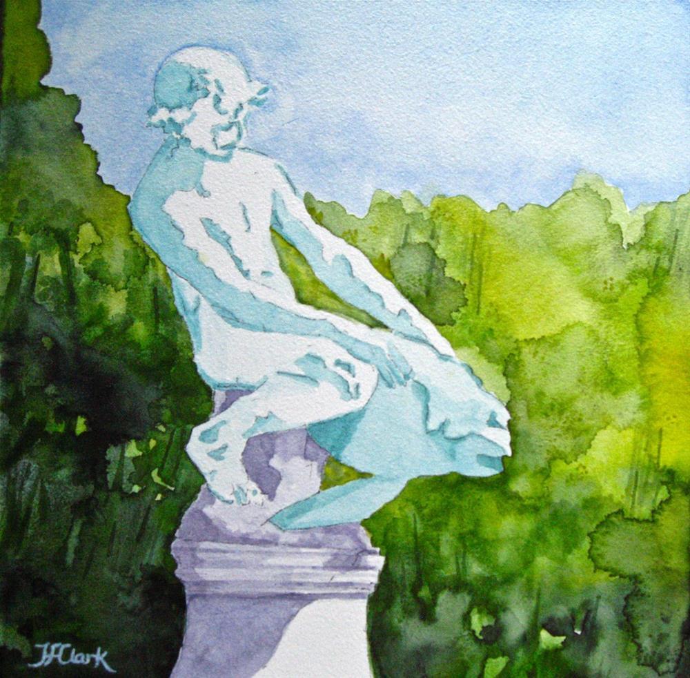 """Boy with a Turtle"" original fine art by Judith Freeman Clark"