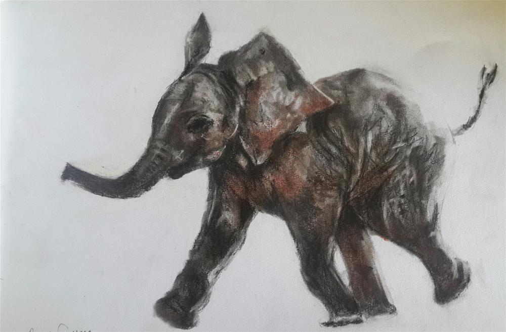 """""""Baby ellie"""" original fine art by Rentia Coetzee"""