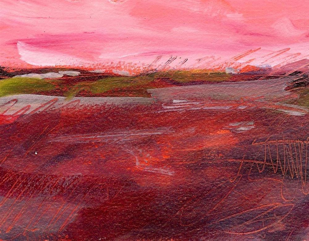 """Rose Colored Landscape"" original fine art by Margie Whittington"