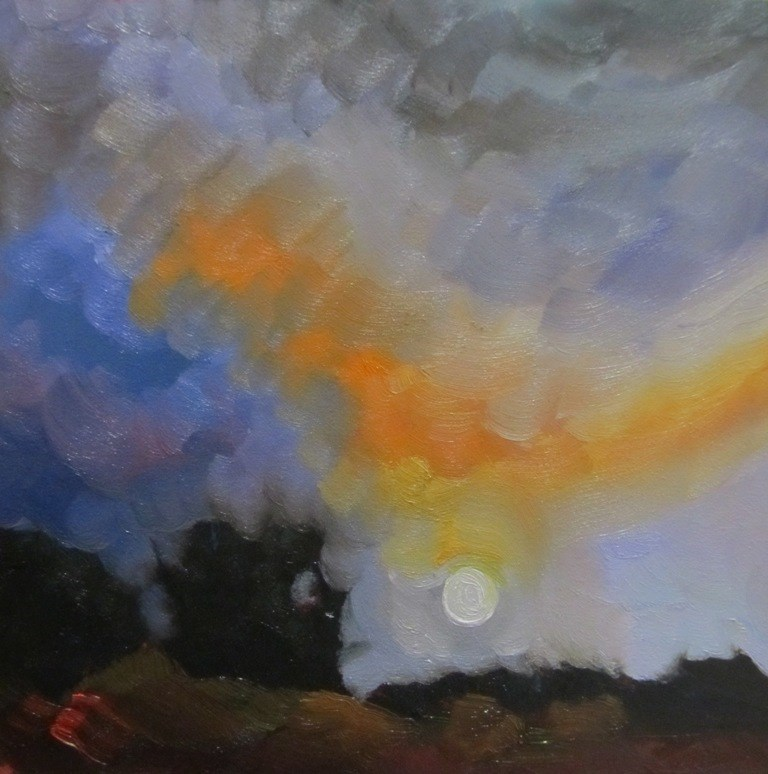 """ALAMEDA SUNSET II"" original fine art by Dee Sanchez"