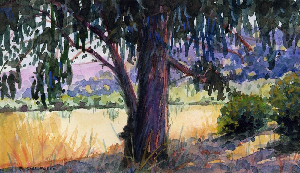 """Watercolor: Blue Eucalyptus"" original fine art by Belinda Del Pesco"