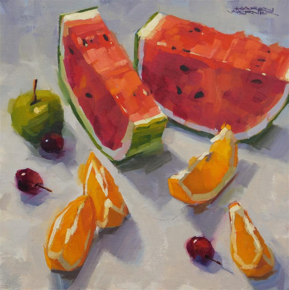 """Juicy Big & Little"" original fine art by Karen Werner"