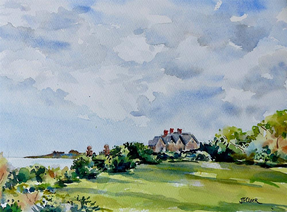 """Cliff Walk View, Newport RI"" original fine art by Judith Freeman Clark"