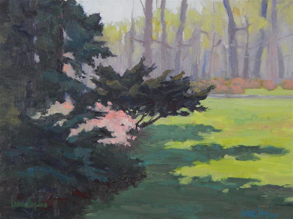 """First Blooms, Winterthur"" original fine art by Lisa Kyle"
