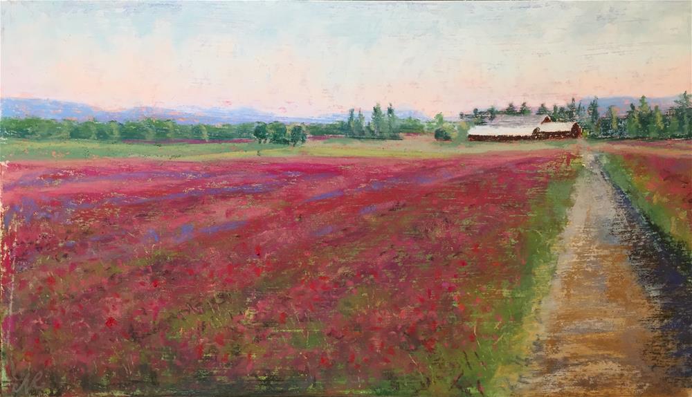 """Clover field"" original fine art by Natasha Ramras"