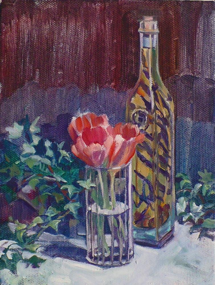 """""""In the kitchen"""" original fine art by Nicoletta Baumeister"""