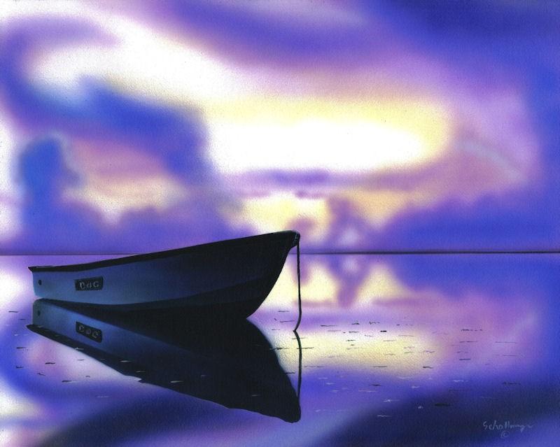 """""""Twilight Wait"""" original fine art by Fred Schollmeyer"""