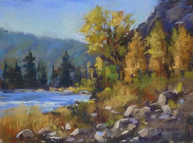 """How to Paint Rocks in Pastel"" original fine art by Karen Margulis"