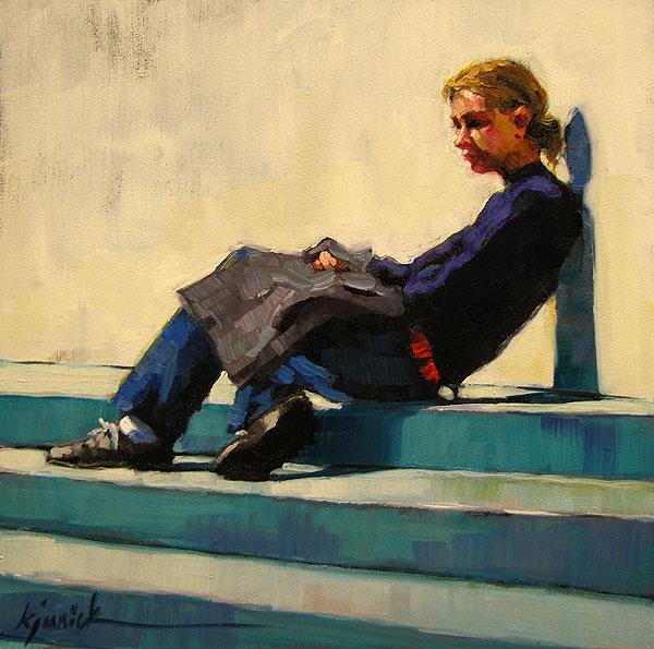"""Leaner Times"" original fine art by Karin Jurick"