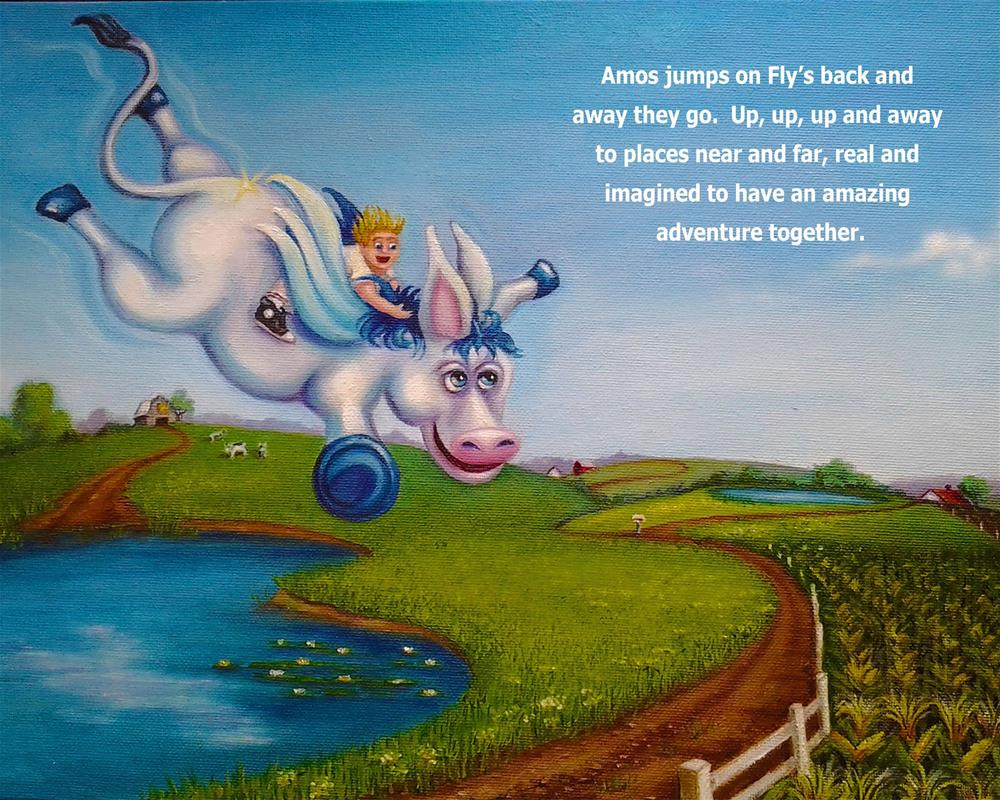 """Amos and Fly"" original fine art by Joetta Currie"