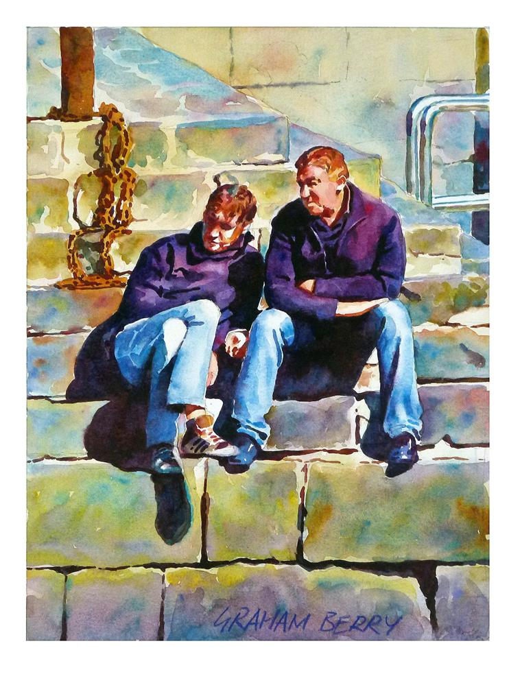 """Mates."" original fine art by Graham Berry"
