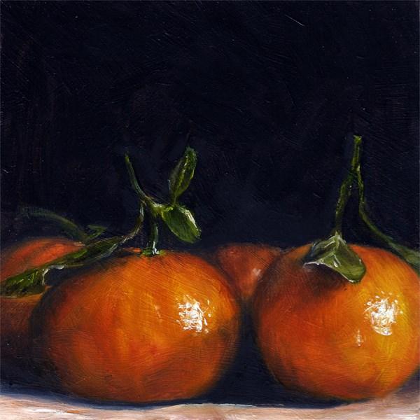 """Clementine huddle"" original fine art by Peter J Sandford"