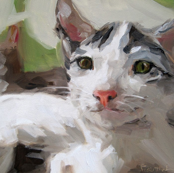 """#1 Cat"" original fine art by Robin Rosenthal"