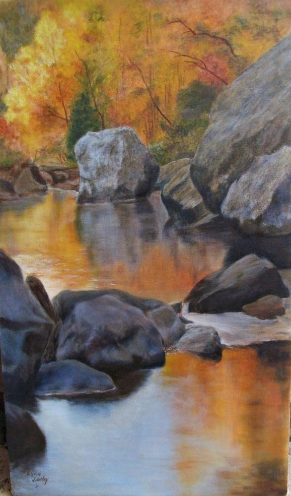 """""""Ozark Creek"""" original fine art by Lynn Darby"""