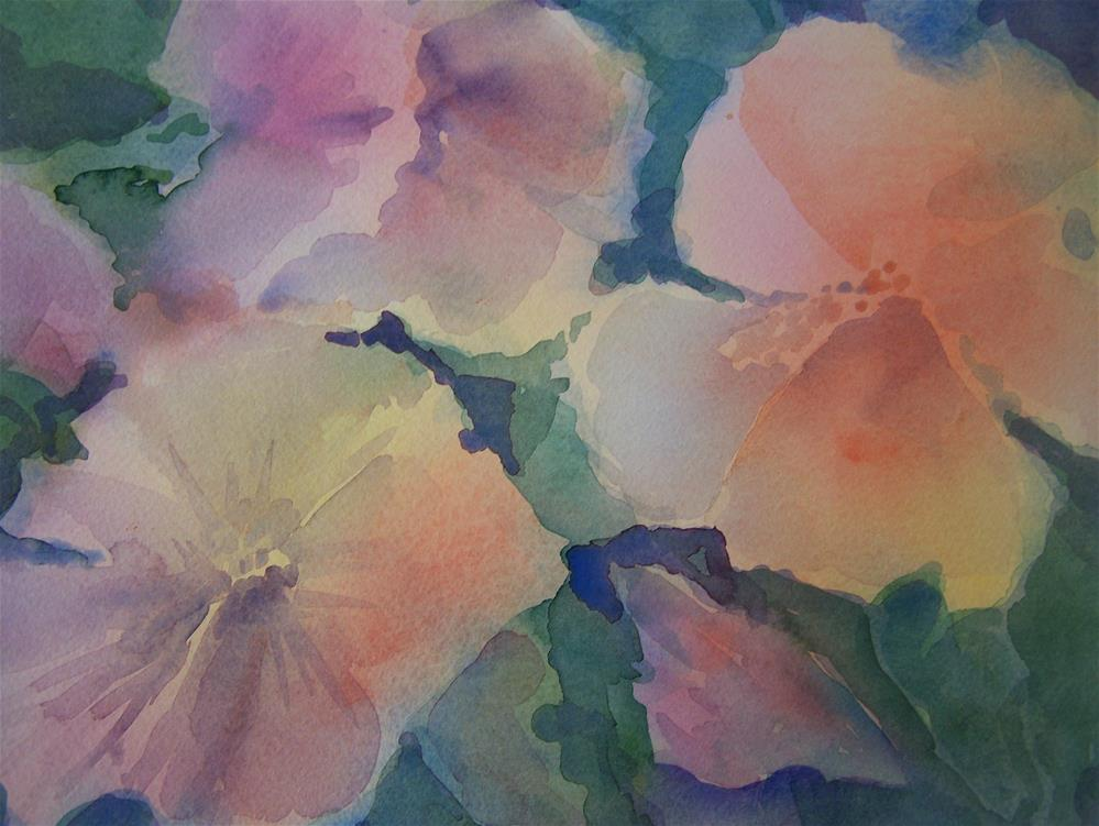 """Hibiscus #2"" original fine art by Joan Reive"