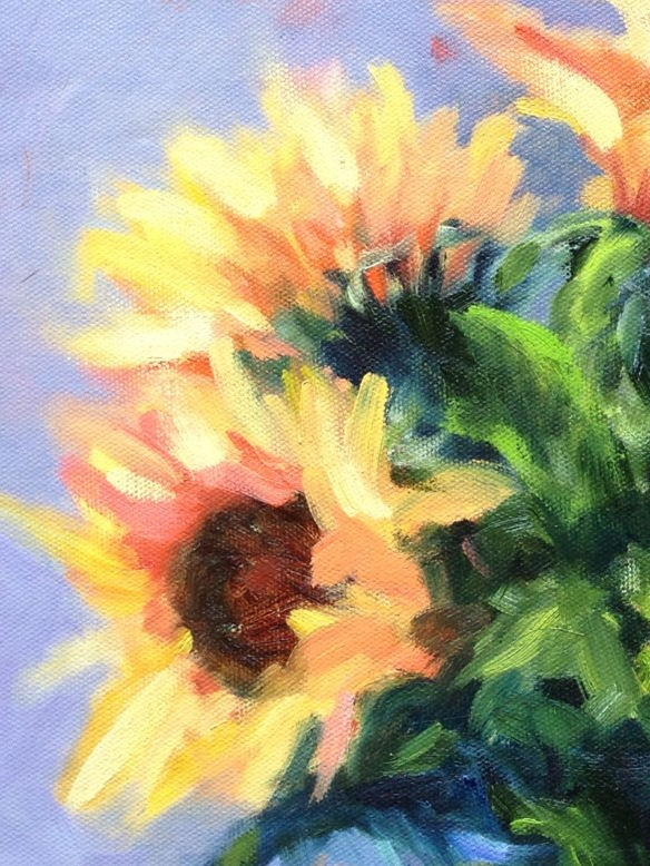 """Sunflowers"" original fine art by Kathleen Squires"
