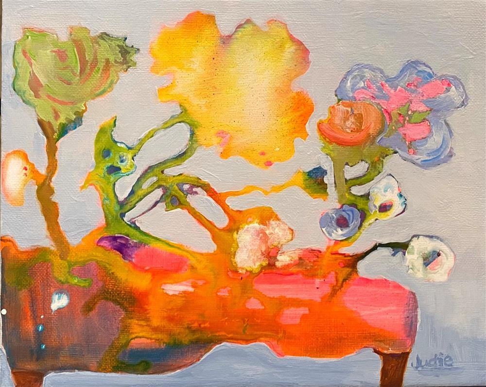 """""""TICKLED PINK"""" original fine art by Judie Mulkey"""