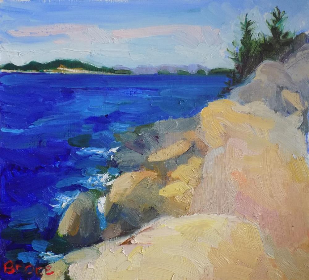 """""""The Deep Blue Sea"""" original fine art by Rita Brace"""