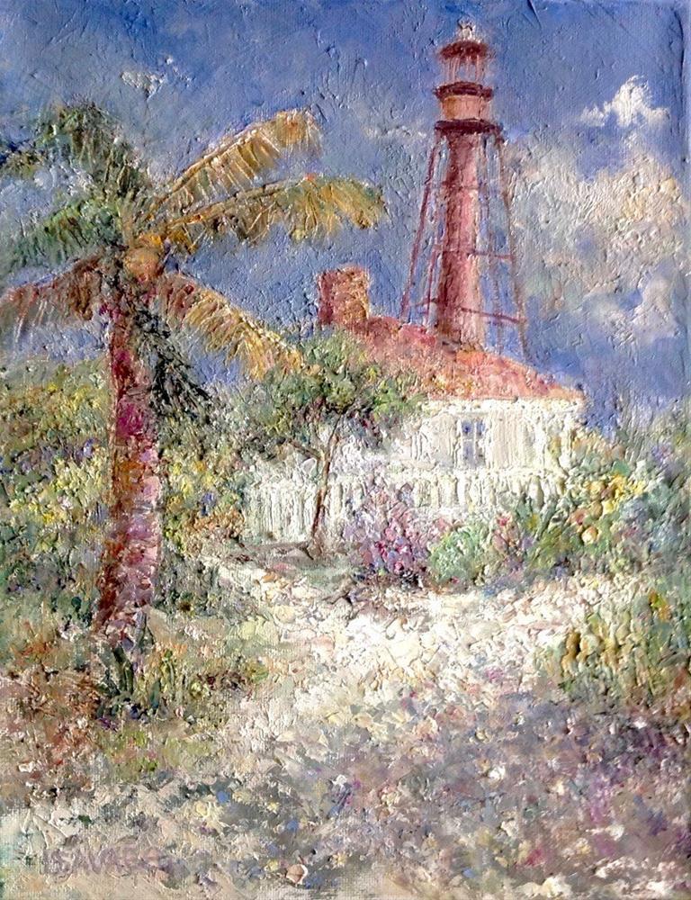 """Sanibel Lighthouse"" original fine art by Judy Usavage"