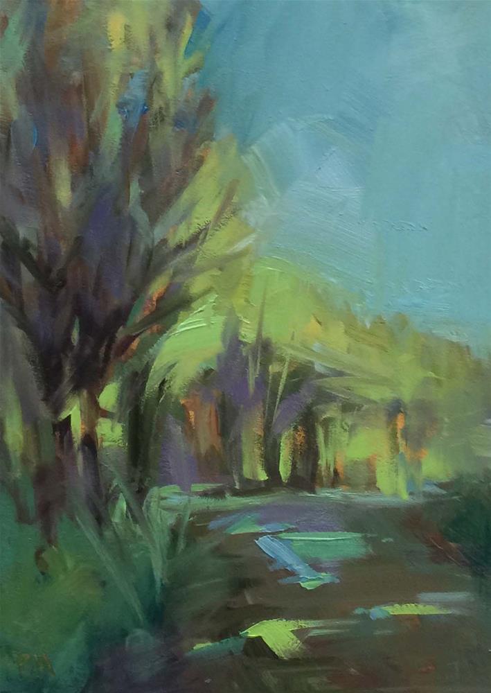"""Lighting up the Treetops"" original fine art by Patti McNutt"