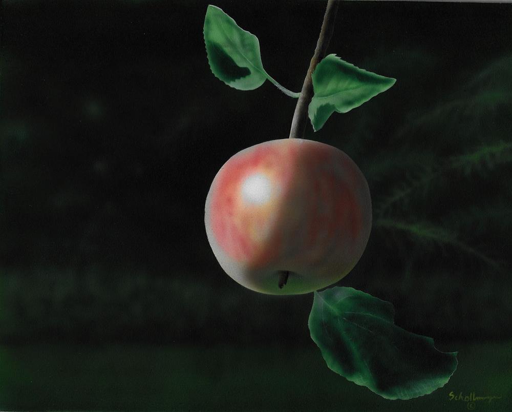 """Late Summer Apple"" original fine art by Fred Schollmeyer"