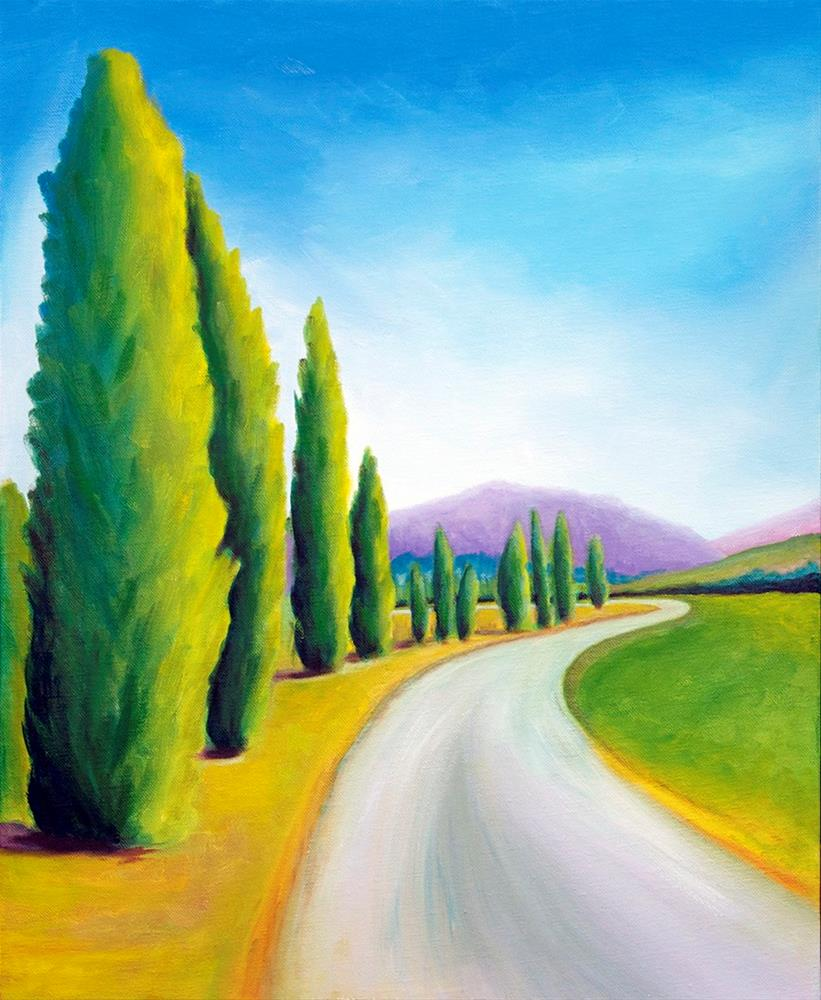 """Sienna Path"" original fine art by Susan Bertocci"